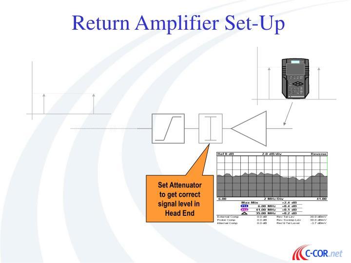 Return Amplifier Set-Up