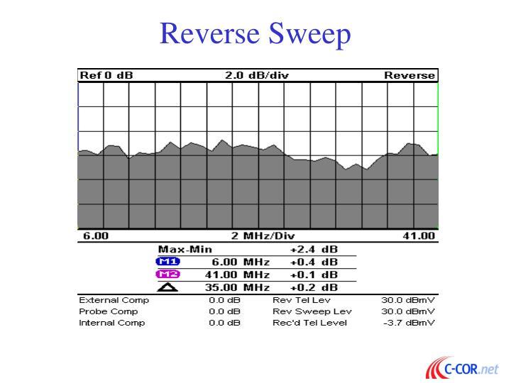 Reverse Sweep