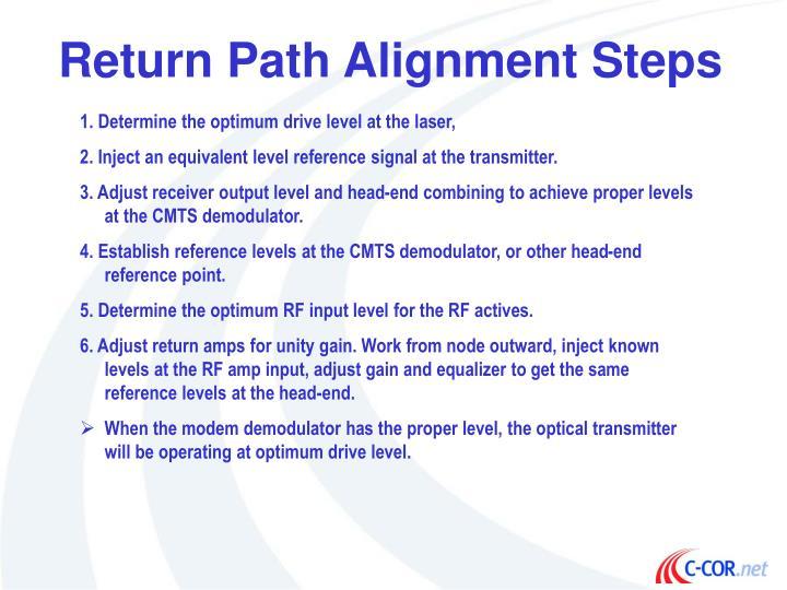 Return Path Alignment Steps