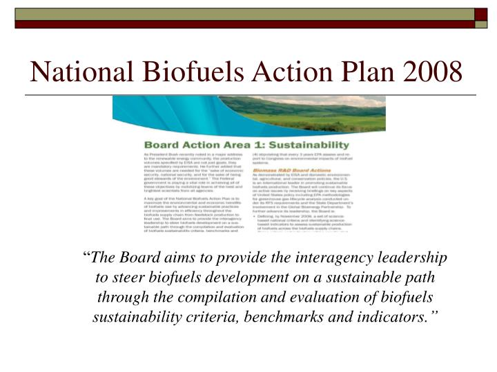 National Biofuels Action Plan 2008
