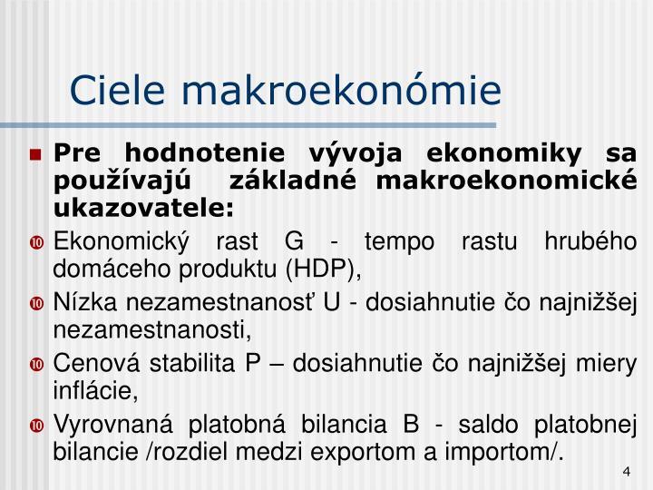 Ciele makroekonómie