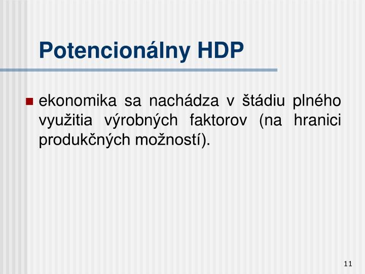 Potencionálny HDP