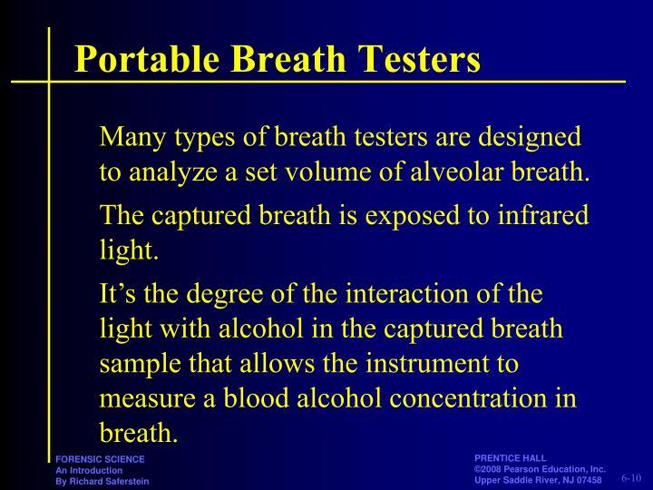 Portable Breath Testers