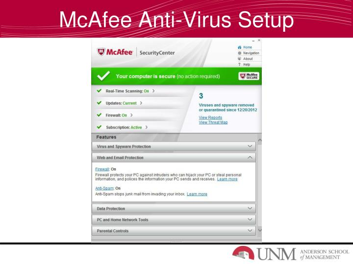 McAfee Anti-Virus Setup