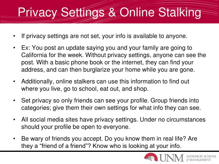 Privacy Settings & Online Stalking