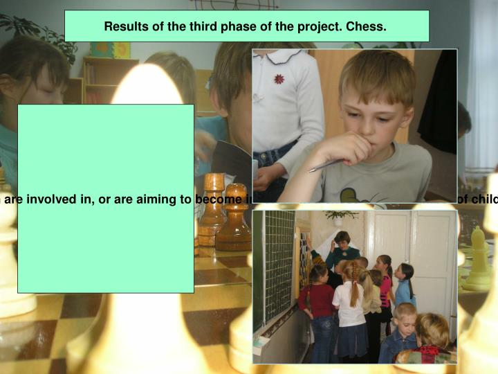 Results of the third phase of the project. Chess.
