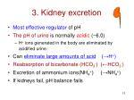 3 kidney excretion