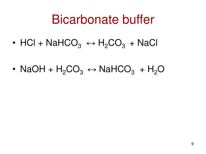 Bicarbonate buffer