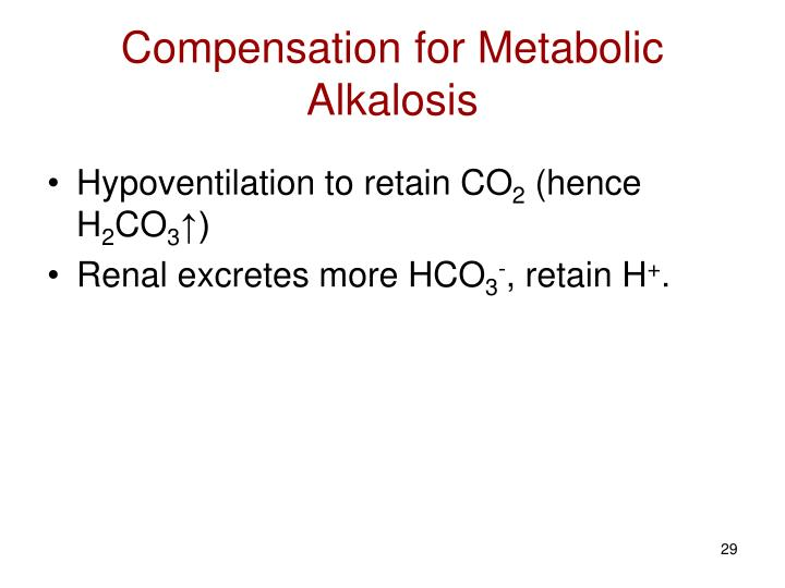 Compensation for Metabolic Alkalosis