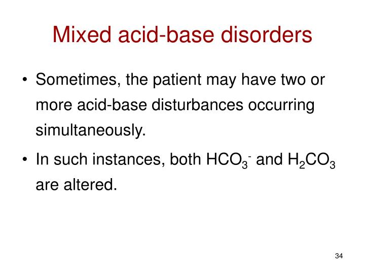 Mixed acid-base disorders