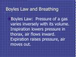 boyles law and breathing