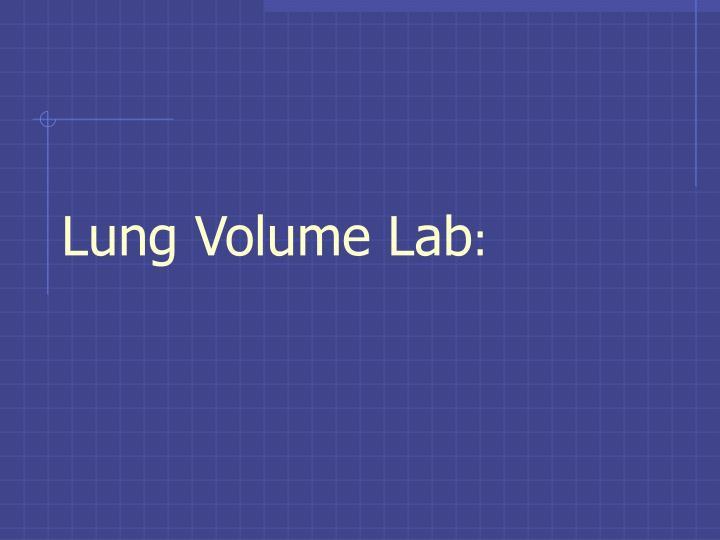 Lung Volume Lab