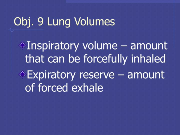 Obj. 9 Lung Volumes