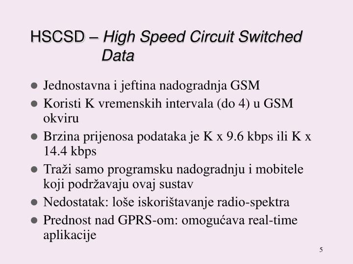 HSCSD –
