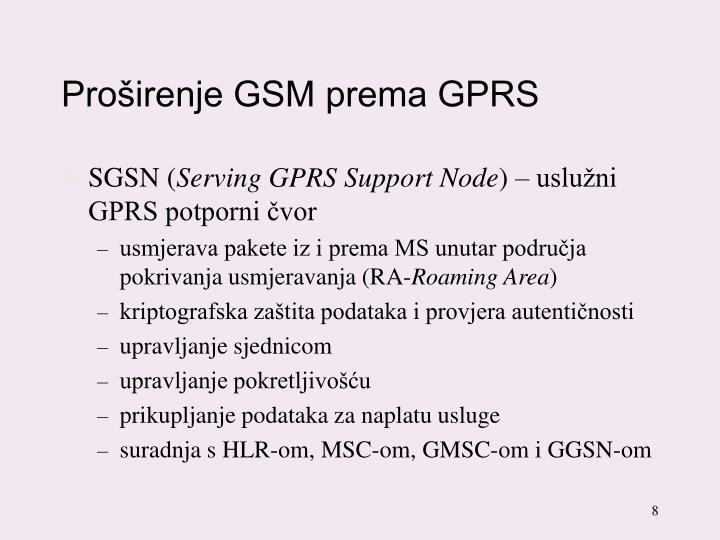 Proširenje GSM prema GPRS