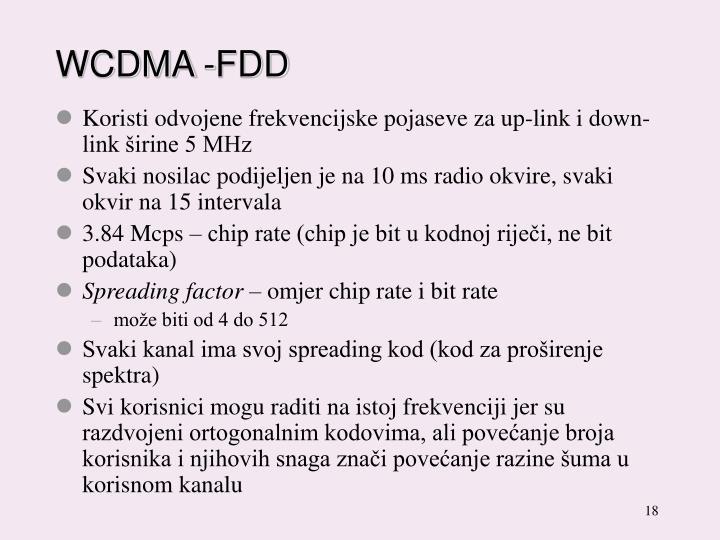 WCDMA -FDD