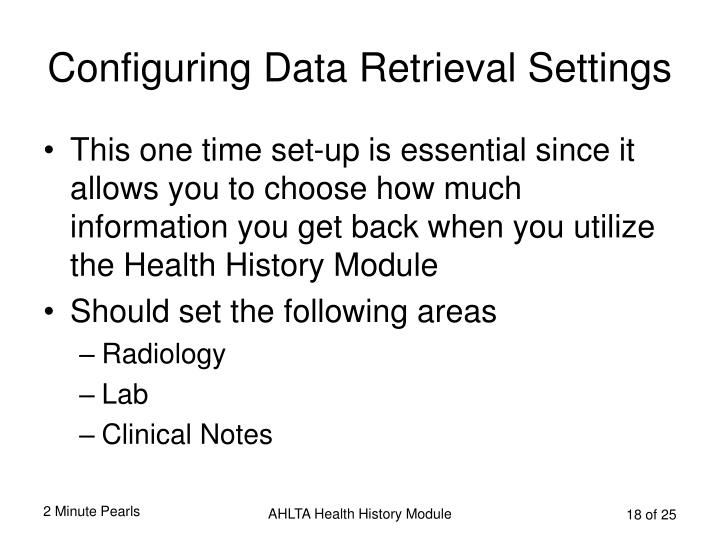 Configuring Data Retrieval Settings