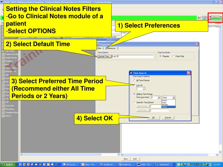 Setting the Clinical Notes Filters