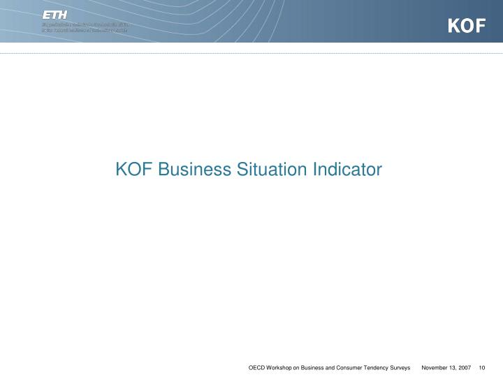 KOF Business Situation Indicator