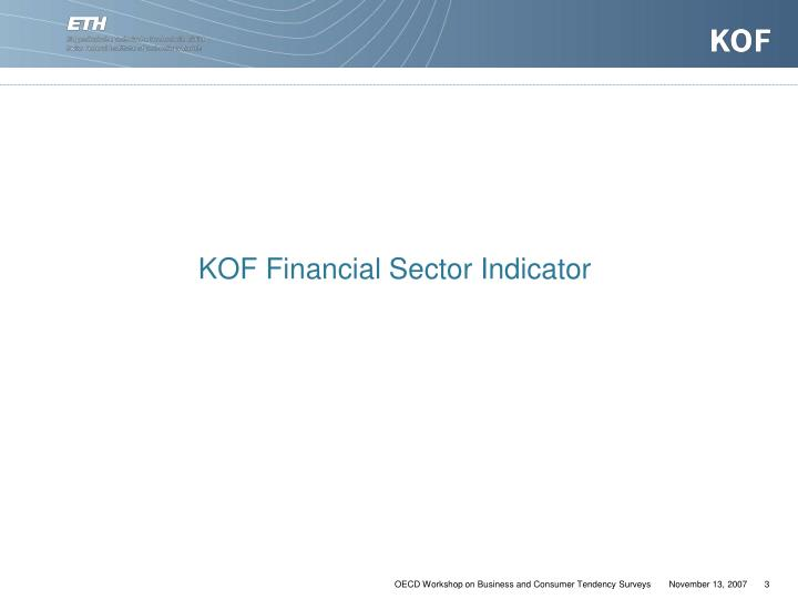 KOF Financial Sector Indicator