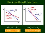 density profile and i front types