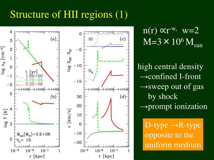 Structure of HII regions (1)