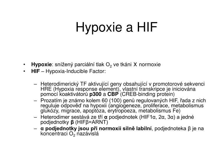 Hypoxie a HIF