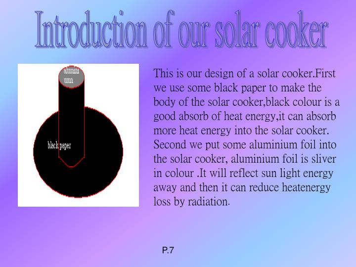 Introduction of our solar cooker