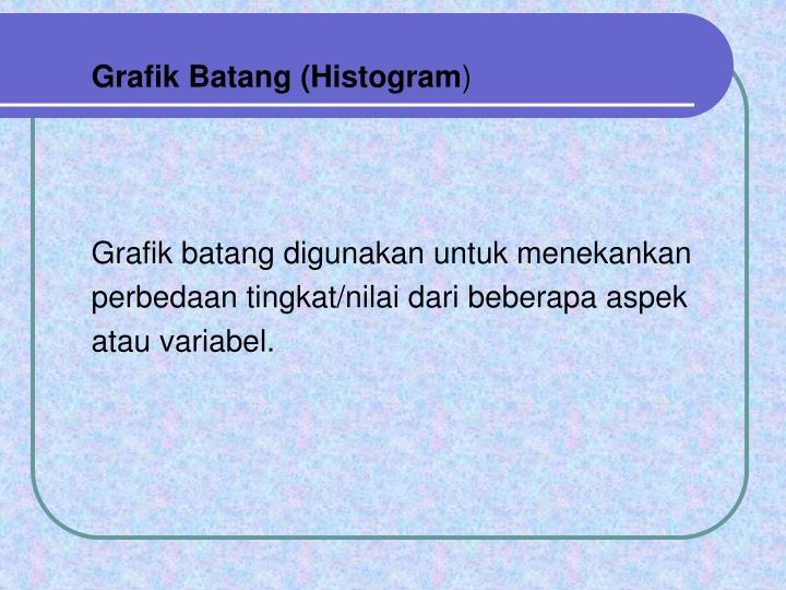 Grafik Batang (Histogram