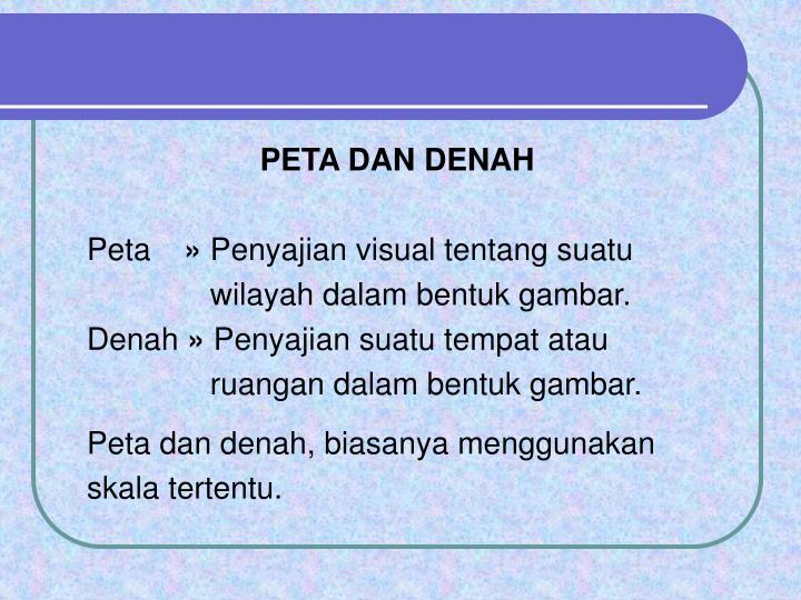 PETA DAN DENAH