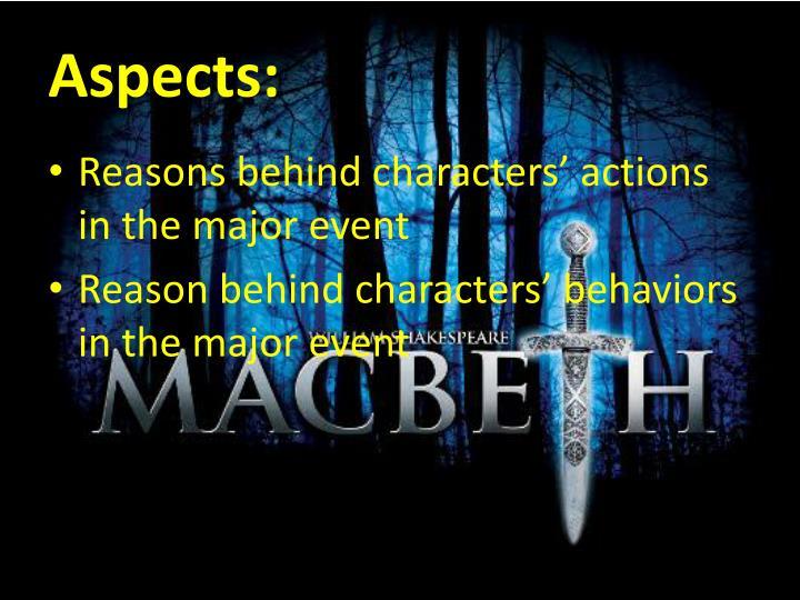 Aspects: