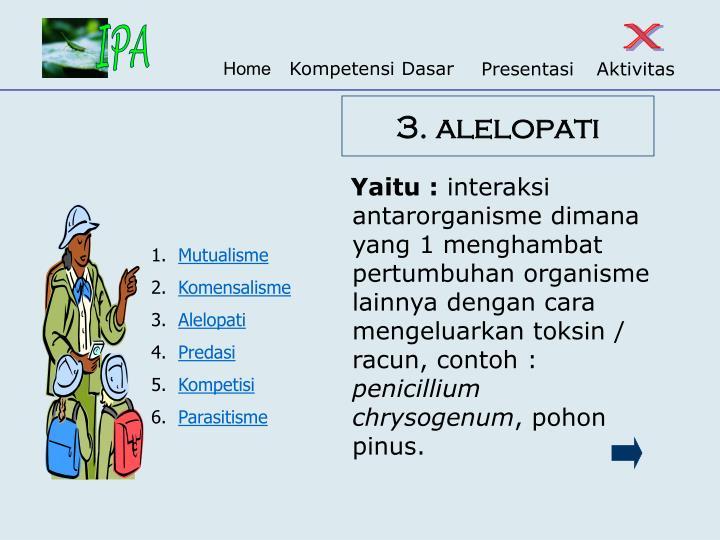 3. alelopati