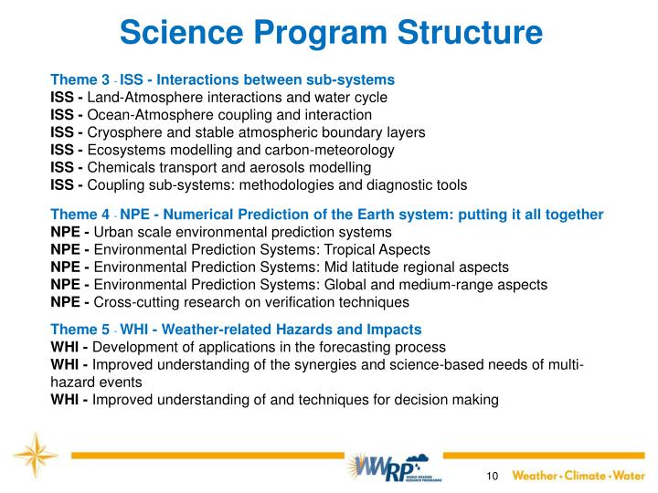 Science Program Structure