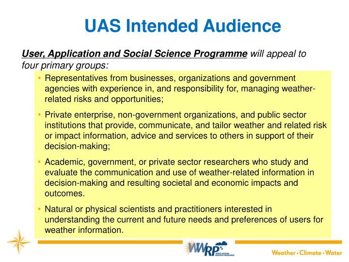 UAS Intended Audience