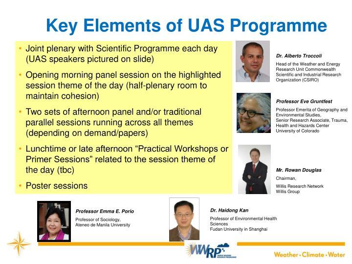 Key Elements of UAS Programme