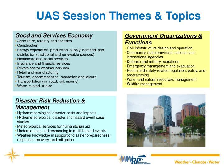 UAS Session Themes & Topics