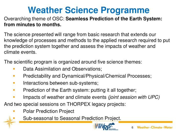 Weather Science Programme
