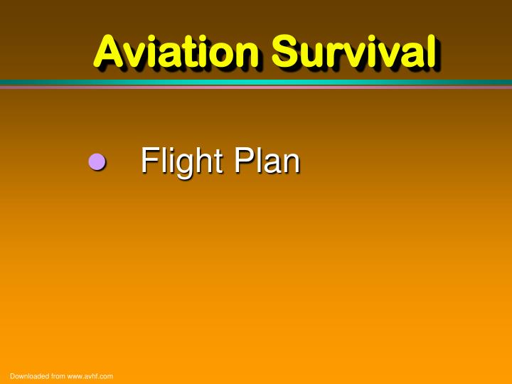 Aviation Survival