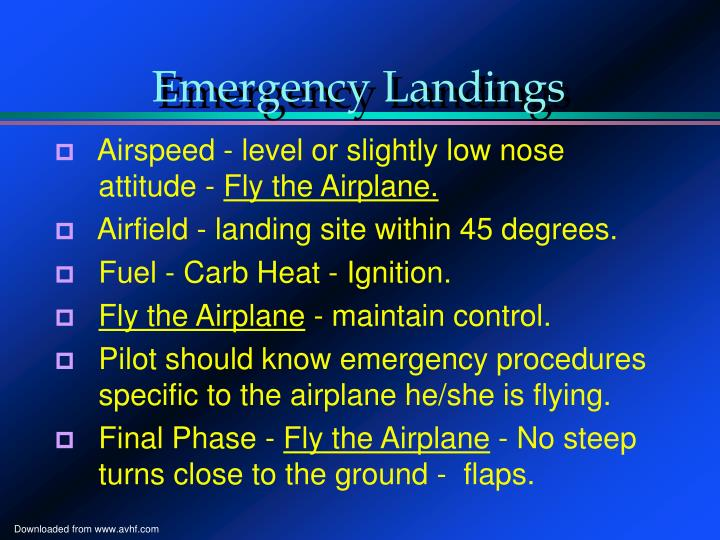 Emergency Landings