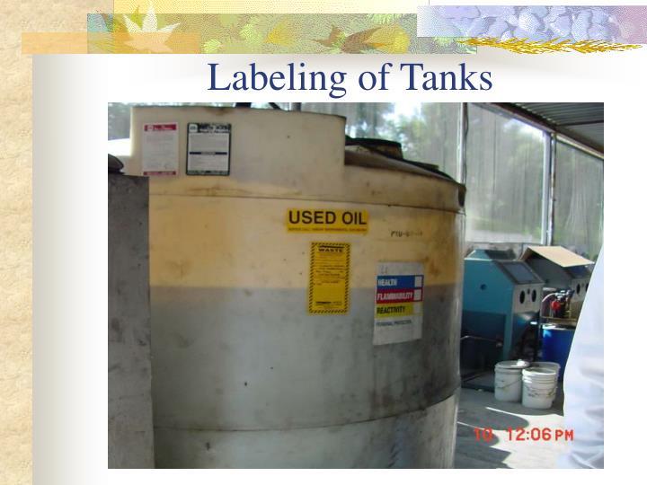 Labeling of Tanks