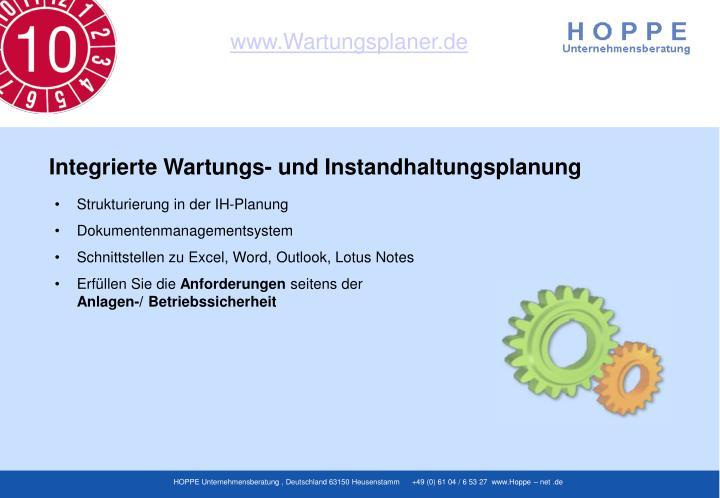 Strukturierung in der IH-Planung
