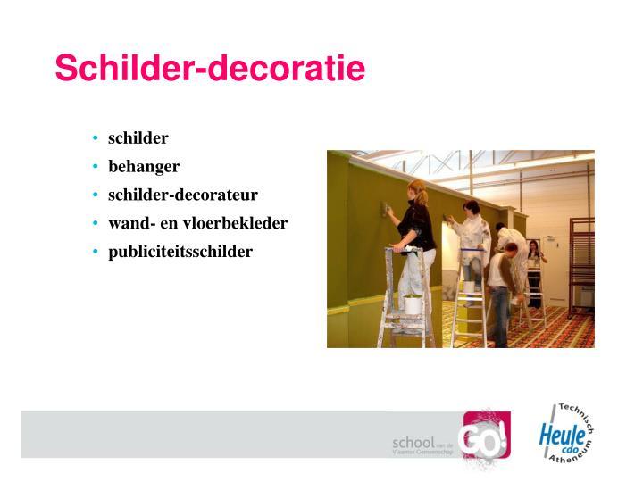 Schilder-decoratie