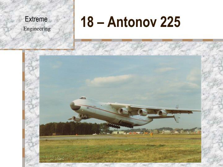 18 – Antonov 225