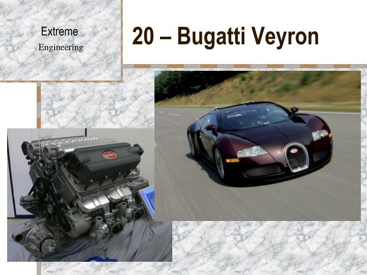 20 – Bugatti Veyron