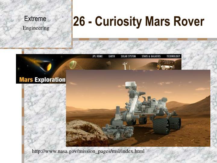 26 - CuriosityMars Rover
