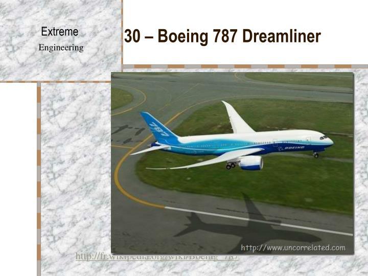 30 – Boeing 787 Dreamliner