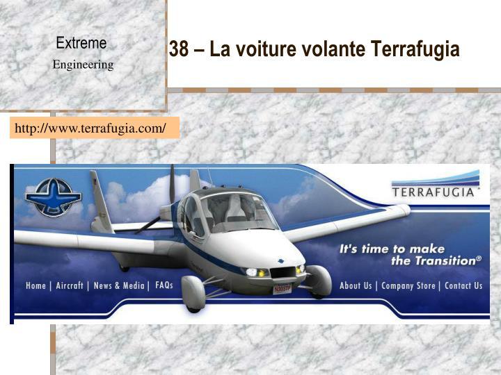 38 – La voiture volante Terrafugia