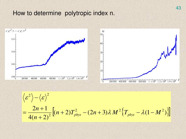 How to determine  polytropic index n.