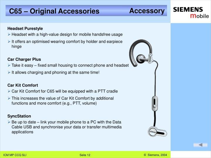 C65 – Original Accessories