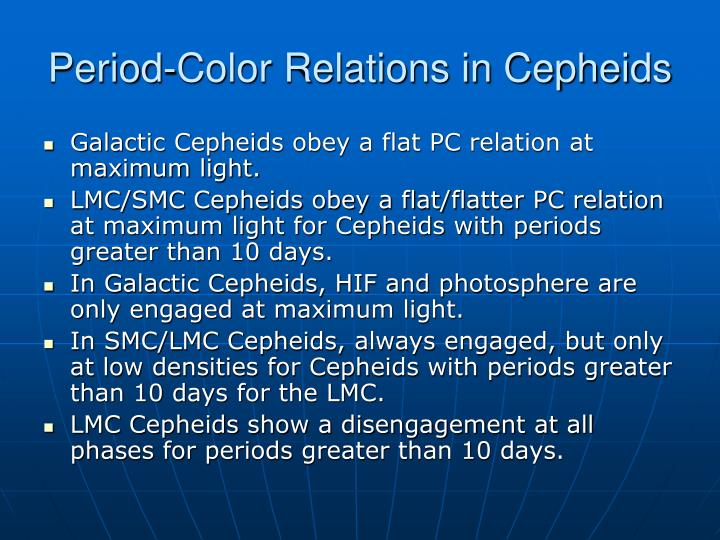 Period-Color Relations in Cepheids